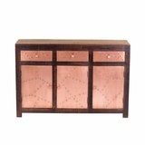 Beautifully Designed Aged Copper Clad Cabinet by Yosemite Home Decor