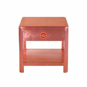 Beautifully Designed Aged Copper End Table by Yosemite Home Decor