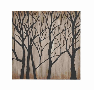 Modern Tree Themed Canvas Wall Art - 92715 by Benzara