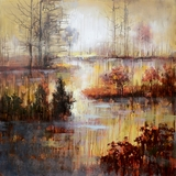 Beautifully Designed Autumn River Classy Painting by Yosemite Home Decor