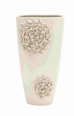 Beautifully Designed Classy Oyster Shell Ceramic Vase Brand Benzara