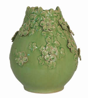 Beautifully Designed Green Ceramic Vase by Three Hands Corp