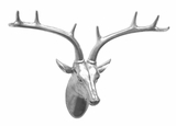 Beautifully Designed Silver Resin Deer Wall D?cor by Three Hands Corp