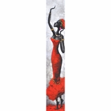 Beautifully Painted Artistic Lady Red I Painting by Yosemite Home Decor