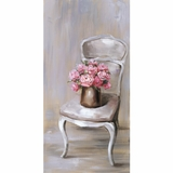 Beautifully Painted Chair Of Roses II Artwork by Yosemite Home Decor