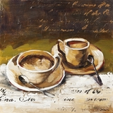 Beautifully Painted Coffee Cafe II Painting by Yosemite Home Decor