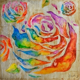 Beautifully Painted Colored Roses II Painting by Yosemite Home Decor