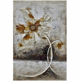 Beautifully Painted Fleur II Classy Painting by Yosemite Home Decor