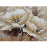 Beautifully Painted Full Bloom I Classy Painting by Yosemite Home Decor
