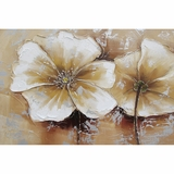 Beautifully Painted Full Bloom III Classy Painting by Yosemite Home Decor