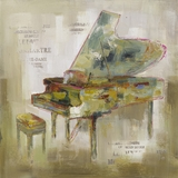 Beautifully Painted Paris Piano Painting by Yosemite Home Decor