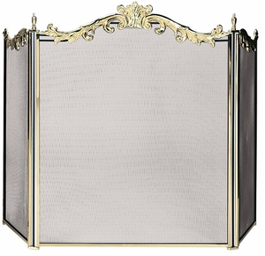Beautifully Styled 3 Fold Cast Solid Brass Screen