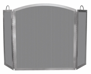 Beautifully Styled 3 Fold Stainless Steel Screen - indoor/outdoor