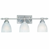 Beautifully Styled 3 Light Vanity Lighting in Brush Nickel by Yosemite Home Decor