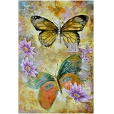 Beautifully Styled Artistic Butterfly Garden II Painting by Yosemite Home Decor