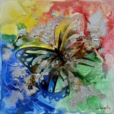 Beautifully Styled Butterfly Bliss I Classy Painting by Yosemite Home Decor