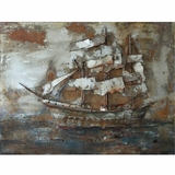 Beautifully Styled Castaway Ship I Classy Painting by Yosemite Home Decor