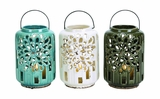 Beautifully Styled Ceramic Lantern 3 Assorted by Woodland Import
