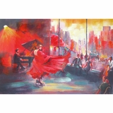 Beautifully Styled Flamenco Fascinating Painting by Yosemite Home Decor