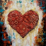 Beautifully Styled Heart works Classy Painting by Yosemite Home Decor