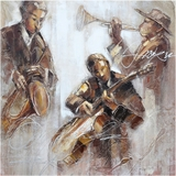 Beautifully Styled Jazz Movement I Classy Painting by Yosemite Home Decor
