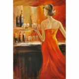 Beautifully Styled Lady's Night II Classy Painting by Yosemite Home Decor