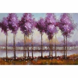 Beautifully Styled Lilac Reflections I Classy Painting by Yosemite Home Decor