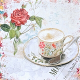 Beautifully Styled Tea Time Classy Painting by Yosemite Home Decor