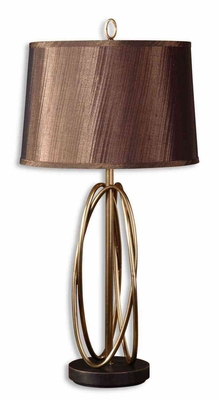 Becca Metal Table Lamp with Detailing in Gold Brand Uttermost