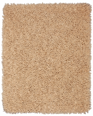 Beige Silky Shag 9' x 12' Brand Anji Mountain by Anji Mountain