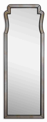 Belen Antique Wall Mirror with Dark Mocha Mirrored Frame Brand Uttermost