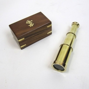 Belfast Extendable Pirate Telescope With Wonderful Wooden Box Brand IOTC