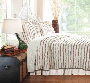 Bella Ruffle Queen Quilt Set, 90 Inch X 90 Inch Brand Greenland Home Fashions