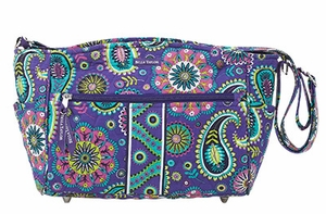 Bella Taylor Blue Printed Cross Body Bag with Metal Stud Feets Paisley Punch Brand Bella Taylor