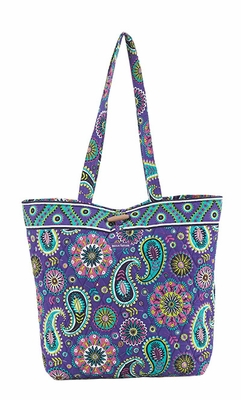Bella Taylor Bright Paisley and Floral Print Design Tote Bag Paisley Punch Brand Bella Taylor