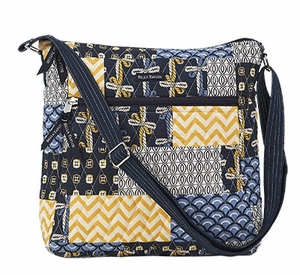 Bella Taylor Cross Body Bag with Patch Work and Quilted Design American Charm Brand Bella Taylor