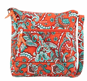 Bella Taylor Cross Body Sling Bag with Top and Front Zipper Bali Bright Brand Bella Taylor