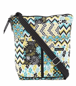 Bella Taylor Crossbody Bag with Machine Quilted and Patch Work Lemon Julep Brand Bella Taylor