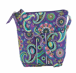 Bella Taylor Crossbody Bag with Quilt and Paisley Print Design Paisley Punch Brand Bella Taylor