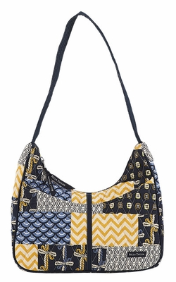Bella Taylor Curve Design Hand Bag with Patch Work Design American Charm Brand Bella Taylor