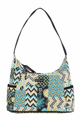 Bella Taylor Curve Pattern Hand Bag with Single Shoulder Strap Lemon Julep Brand Bella Taylor