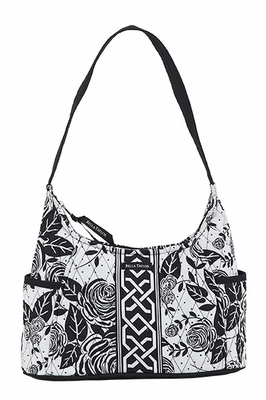 Bella Taylor Curve Pattern Handbag with Rose Print Design Rose Pop Brand Bella Taylor