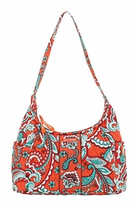 Bella Taylor Curved Handbag with Printed Design Bali Bright Brand Bella Taylor