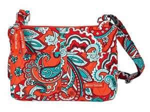 Bella Taylor Floral Printed Shoulder Bag with Adjustable Strap Bali Bright Brand Bella Taylor