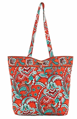 Bella Taylor Floral Printed Tote Bag with Toggle Closure Bali Bright Brand Bella Taylor
