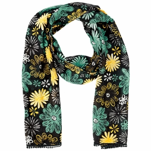 Bella Taylor Floral Printed Viscose Scarf with Lace Detail Lemon Julep Brand Bella Taylor