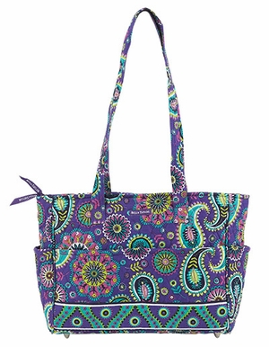 Bella Taylor Handbag with Paisley Print and Metal Stud Feets Paisley Punch Brand Bella Taylor