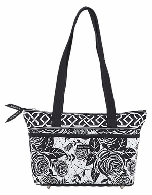 Bella Taylor Handbag with Printed Design and Metal Stud Feets Rose Pop Brand Bella Taylor