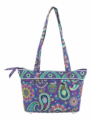 Bella Taylor Handbag with Quilted Pattern and Paisley Print Paisley Punch Brand Bella Taylor