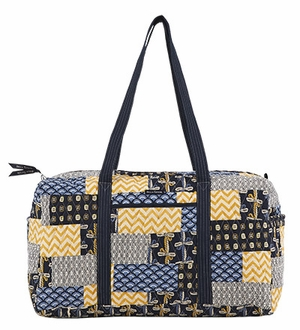 Bella Taylor Patch Work Duffle Bag with Double Shoulder Strap American Charm Brand Bella Taylor